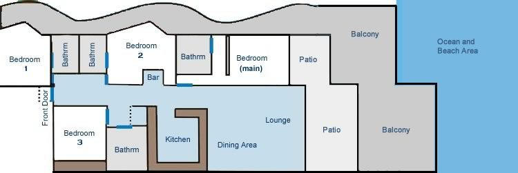 No 5 Casa Playa Floorplan